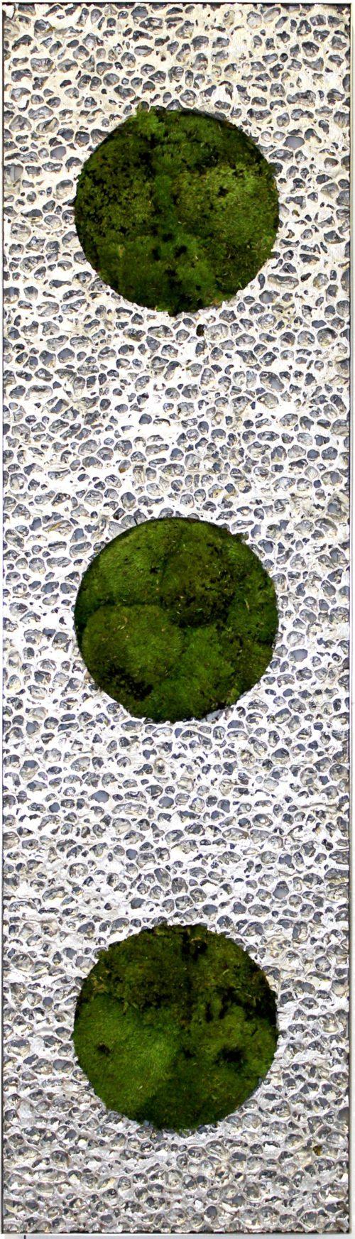 NATURADOR® Space Moss Absorber Nr. 1, Absorber aus Alu und Kugelmoos zur Verbesserung der Raumakustik