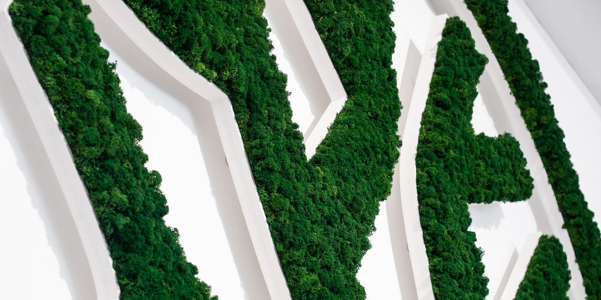 NATURADOR Moos-Logo Bökerbaum für Jahresausstellung