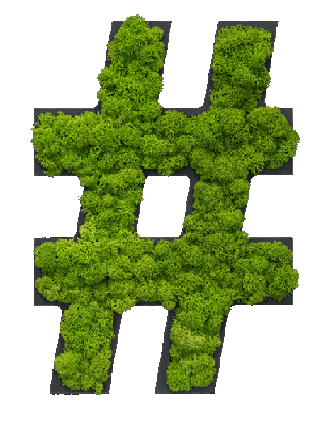 NATURADOR® Moospiktogramm Hashtag