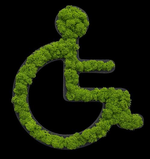 NATURADOR® Moospiktogramm Toilette Rollstuhl