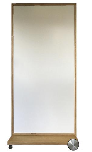NATURADOR®-mobiler-Raumteiler-Eiche-mit-Whiteboard