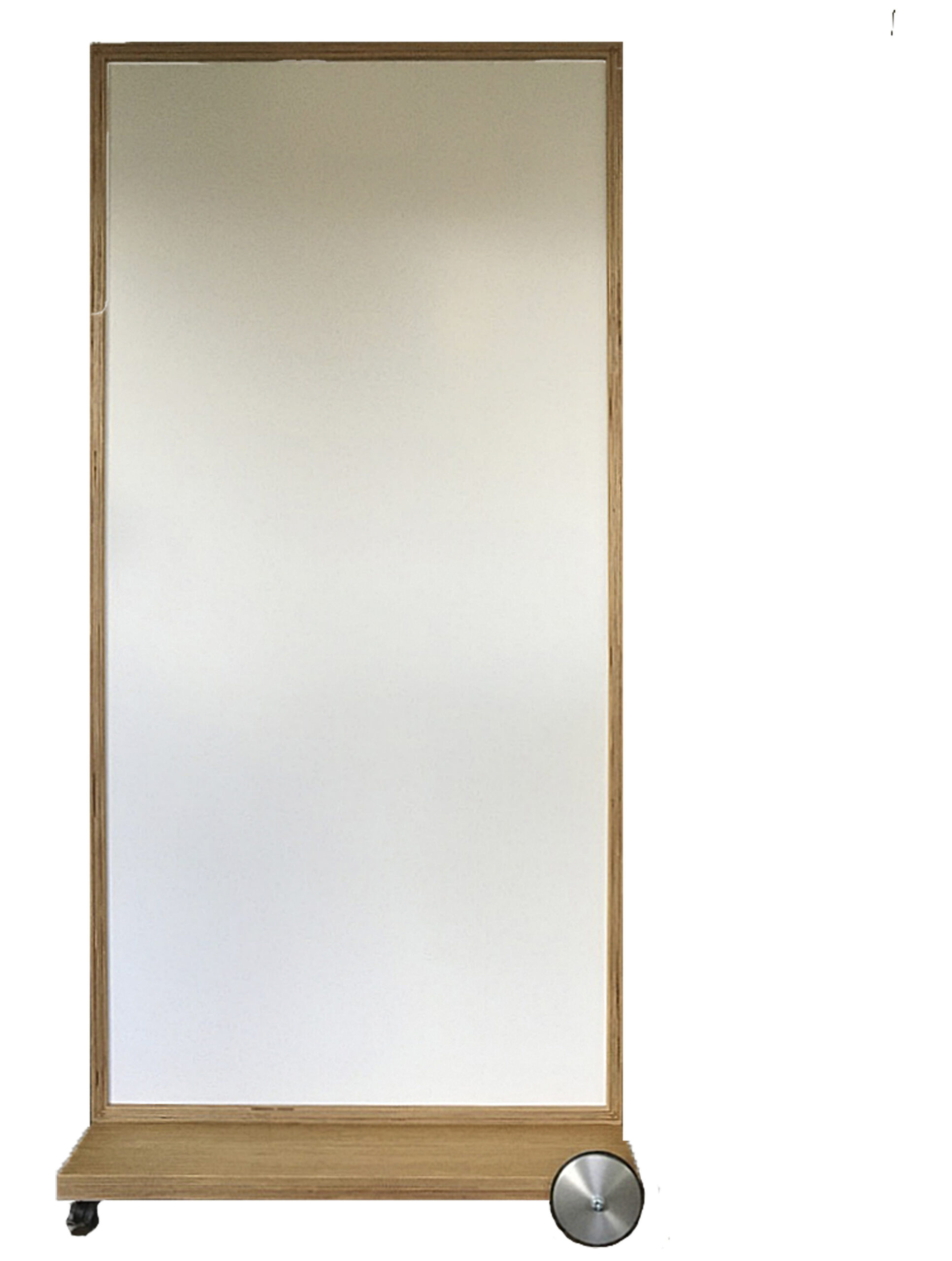 NATURADOR® mobiler Raumteiler Eiche mit Whiteboard