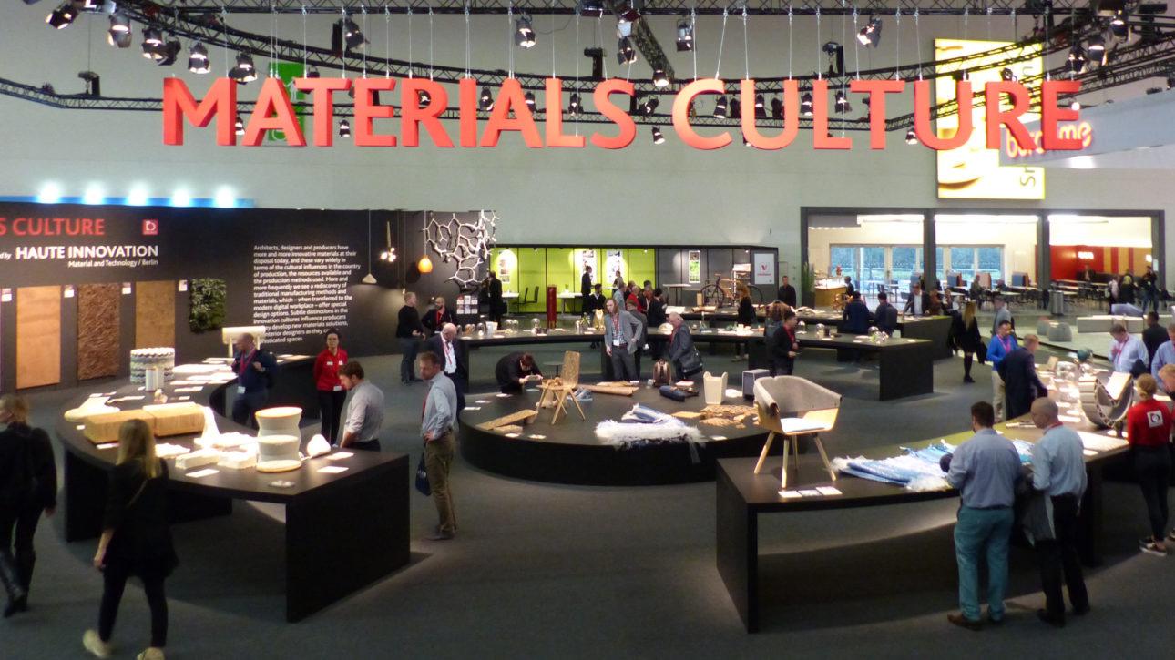 """NATURADOR® auf der Sonder-Ausstellungsfläche """"Materials Culture"""" auf der Orgatec 2018 Köln"""