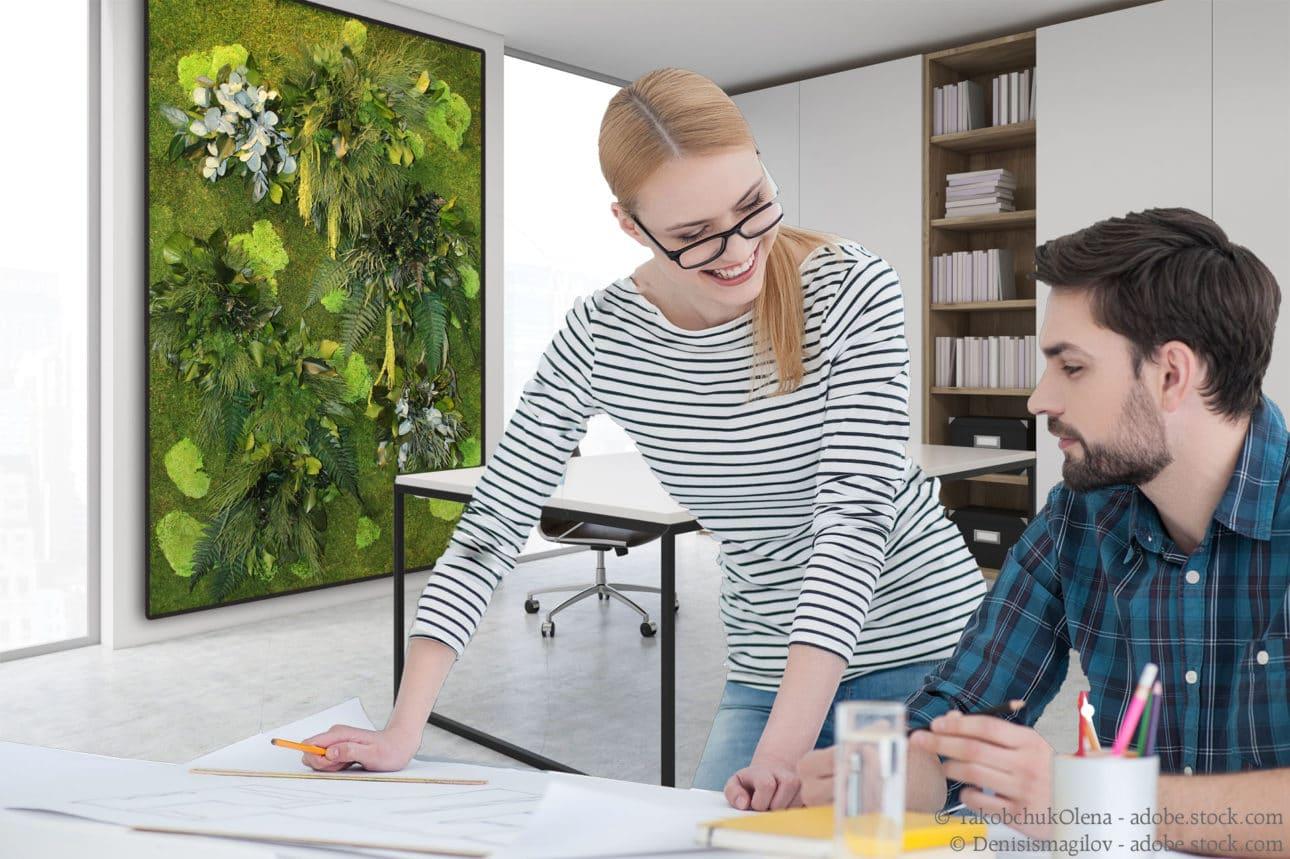 Biophiles Design im Büro - NATURADOR® Moos- und Pflanzenwände