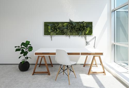 NATURADOR® Schreibtisch mit Pflanzeninseln 140 x 40 cm